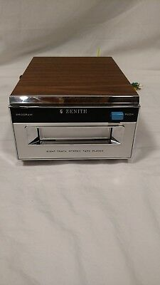 Vintage Zenith 8-Track Stereo Tape Player Model D635W, Working Condition