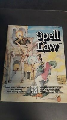 Spell Law Rolemaster #1200 I.C.E. Roleplaying Rollenspiel SPELL LAW  1984