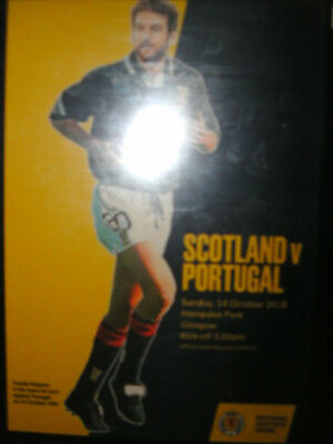 SCOTLAND v PORTUGAL 14/10/2018 OFFICIAL PROGRAMME ( NOW POSTING )