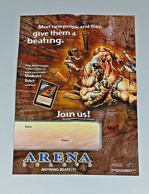 MTG WOTC 2001 Poster ARENA Diabolic Edict Magic The Gathering Vintage Very RARE