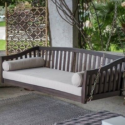 Fantastic Swing Bed Porch Furniture Outdoor Seat Wooden Hanging Chair Uwap Interior Chair Design Uwaporg