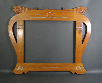 "21x17""Antique Carved Oak Wooden Family Portrait Wall Photo Picture Frame Display"