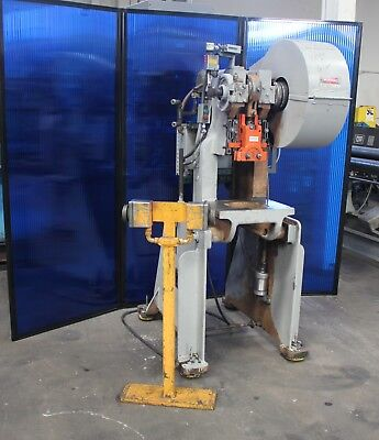 "15 Ton Rousselle #2 OBI Punch Press 16"" x 11"" Bed 2' Stroke"