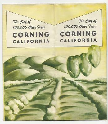 Corning California Map & Brochure.  The City of 100,000 Olive Trees
