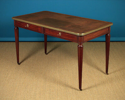 Antique Leather Top Writing Table c.1910.