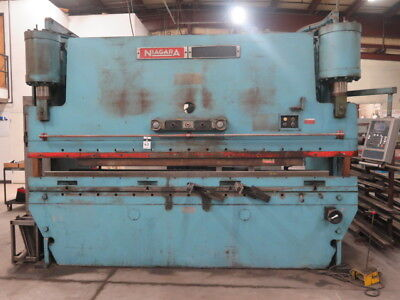 175 Ton x 12' Niagara CNC Hydraulic Press Brake Updated Cybelic CNC Control