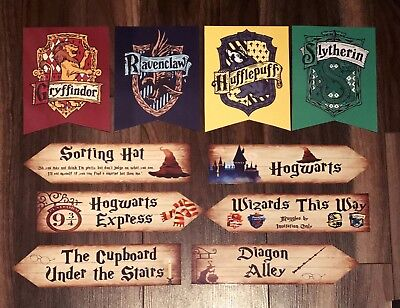 Harry Potter Arrows & Banner Party Decoration Set*6 Arrows*4 Banners*laminated*