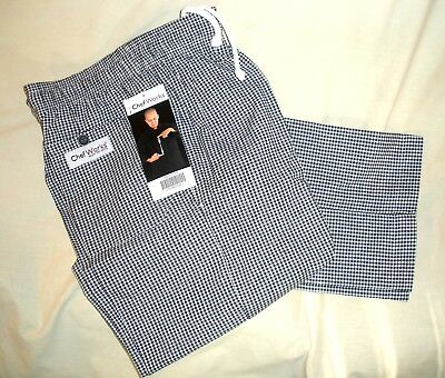 Chef Works NBCP000XS Checked 'Baggies' Pants, Size XS NEW WITH TAGS