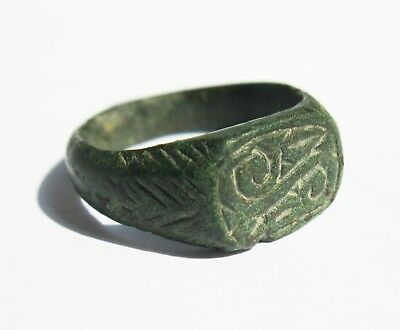 Medieval Seal Ring BRONZE 16th-17th century