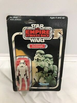 Vintage Kenner Star Wars Empire Strikes Back Stormtrooper 41 Back On Card