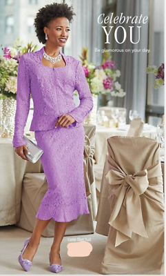 ef8a45072 Ashro Formal Dress Lavender Carin Wedding Church Skirt Suit 10 14 16W 18W  22W