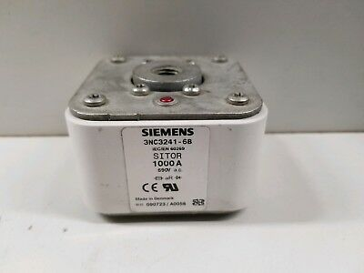 New Old Stock! Siemens 1000A 690V Sitor Fuse Link 3Nc3241-6B