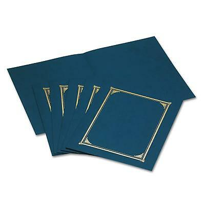 10 Certificate Holder - Holds Three Different Sizes - Blue Gold Foil, Diploma