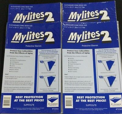 200 E. Gerber Mylites 2 Mil Mylar Standard - Bronze Age Comic Book Sleeves 725M2