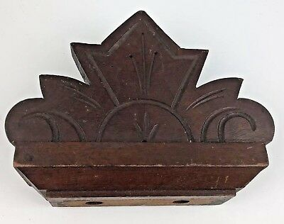 Antique Wood Hand Carved Furniture Topper Pediment