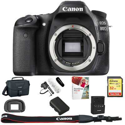 Canon EOS 80D 24.2 MP CMOS Digital SLR Camera (Body) + 32GB Reporter Kit
