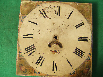 Longcase, Grandfather painted clock face