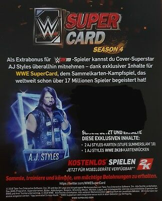 WWE 2k19 Collectors Edition WWE Supercard Code AJ Styles