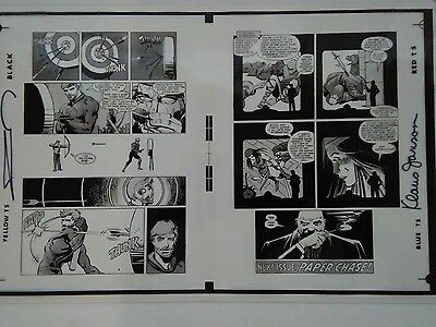 Production Page Daredevil #177 pgs 20 & 21 signed by Frank Miller and Klaus