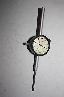 "Starrett 25-2041J .001"" grad jeweled Dial Indicator, 0-100 dial, 2"" travl 2"" dia"