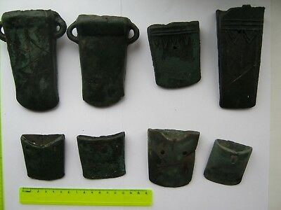 Bronze age Collection of bronze axe. Metal detector finds  100% original