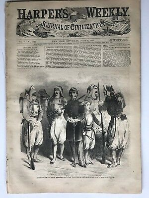 Harper's Weekly 6/8/1861  WINSLOW HOMER Print, Map of the Seat of the War etc