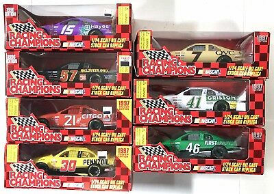 Racing Champions NASCAR Stock Cars Big 1:24 Scale Halloween Citgo QVC Lot of 7