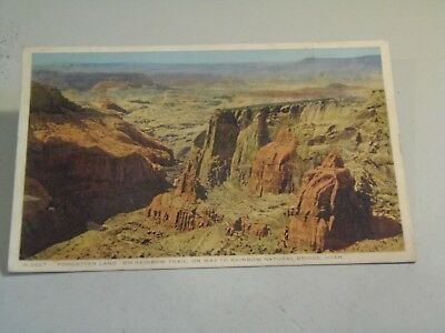 Forgotten Land on Rainbow Trail Natural Bridge Fred Harvey Postcard