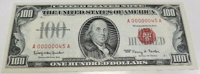 FR-1550 1966 $100 US Note  A00000045A