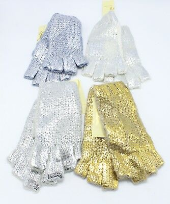 New Foil Print Stitch Knitted Fingerless Gloves by Collection XIIX #FG2