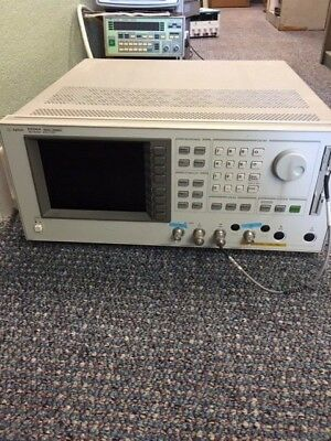 AGILENT E5100A NETWORK ANALYZER, 10KHz - 180MHz