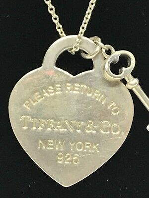 tiffany co 925 sterling silver necklace With Heart