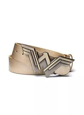 New Wonder Woman Cosplay Costume Buckle Faux Leather Belt Gold M/L