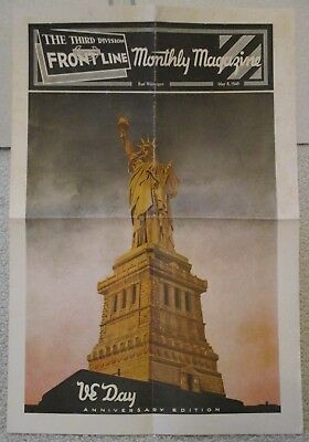WWII Third Infantry Division Frontline Newspaper VE Day Anniversary Issue 1946 G