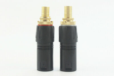 XLR Male to RCA Female Socket Adapter Gold Balanced Cable Plug Phono (Pair)