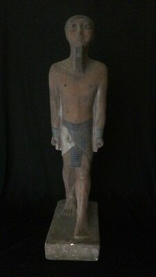 Ancient EGYPT Antique EGYPTIAN STATUE Pharaoh GOD PTAH Limestone of 300-1500 BC