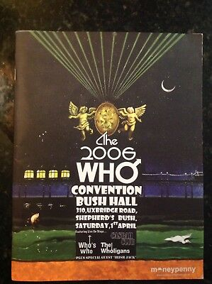 """""""The Who"""" 2006 Convention Bush Hall Book"""