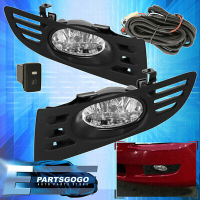 For 2003-2005 Honda Accord Coupe 2 Door Jdm Fog Light Clear Lamp Assembly Kit