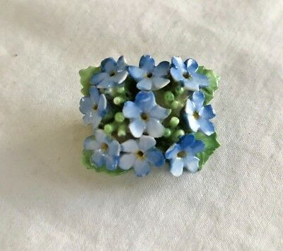 Vintage COALBROOK CHINA signed Floral Bouquet Pin Brooch Made in England