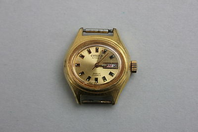 Citizen Automatic Tag + Datum Damenarmbanduhr, um 1970