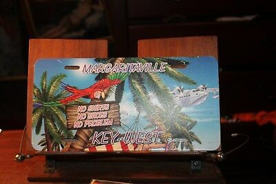 Key West Margaritaville No Shoes Shirt Florida License Plate Jimmy Buffet 1990's