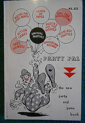 1958 Party Pal Softcover Book Party and Game Book