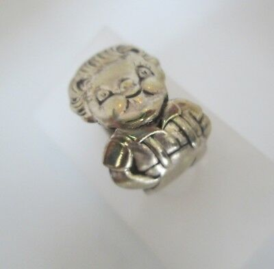 Vintage Campbell Boy Silver Plate Spoon Ring Adjustable sz 5..5