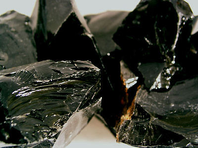 Obsidian Black all natural mine rough Mexico 1/2 pound lots