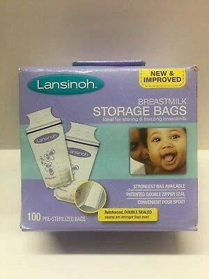 Breastmilk Breast Pump Storage Bags 100 Count Lansinoh Store Freeze Breast Milk