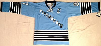 on sale 82692 b0241 SIDNEY CROSBY PITTSBURGH Penguins Vintage 1967 Powder Blue Jersey Size Large