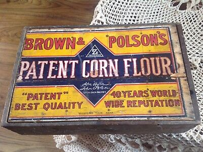 Vintage Original Brown & Polson Flour Wooden Crate