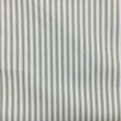 Dark Denim Blue Cotton Ticking With Tan And White Stripe