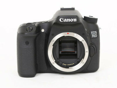 Canon EOS 70D 20.2 MP 3'' Screen Digital SLR Camera Black Body Only Excellent
