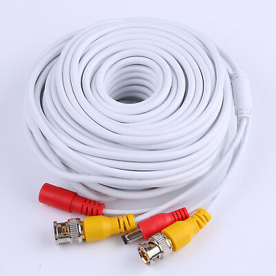 SANNCE 18m 60FT BNC Cable Video Power 2-in-1 Connector Extension Wire for CCTV